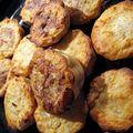 Muffins au fromage blanc et aux pommes.
