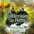 Participation aux Folkloriales de Namur 2021