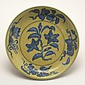 Dish with flowering gardenia, Ming dynasty, Hongzhi mark and period, AD 1488–1505