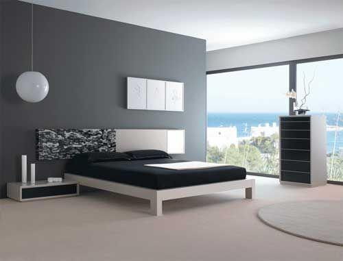 chambre design noir et blanc - Photo de chambres design - deco design