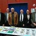 Le stand de la SHW était bien garni, avec son président Marc Bojic (à gauche) entouré d'une partie du comité