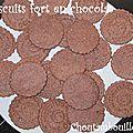 Biscuits fort en chocolat
