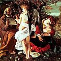 Les tableaux du Caravage à Rome (9/20). N°5 - Galerie Doria Pamphili – Madeleine repentante, La fuite en Egypte.