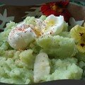 Ecrasé de pommes de terre aux capuines de chez Choumie