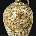 A monumental kashan lustre jug, persia, 13th century