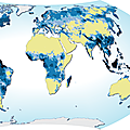 Average annual water runoff around the world