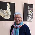 <b>Françoise</b> <b>Dupuis</b> expose ses peintures et aquarelles à l'Auberge des Gorges de la Vis