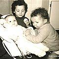 Frères et sœur fin 1966 (Quimperlé, décembre 1966)