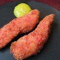 Nuggets de poulet aux pralines roses