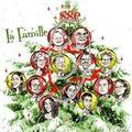 Cadeau de famille pour Noël - caricatures en sapin de Noël