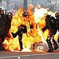 Violent affrontement en ce moment a paris contre le 2e tour des presidentielles