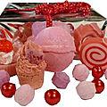 Composition cadeau fruits rouges