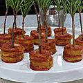 Mille-feuilles de chorizo à l'<b>abricot</b> <b>sec</b>