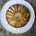 Gâteau aux pommes, à la farine complète et miel au citron