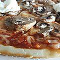 Pizza champignons frais / brousse
