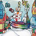 Dessin pour le cour d'arts plastiques 7 : la cité des cieux - l'observatoeil