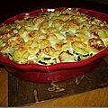 Gratin de pommes de terre/légumes/truite fumée