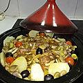 Tajine d'<b>agneau</b> et fèves aux pommes de terre et au citron confit