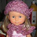 Bonnet Olga et écharpe Arlequin pour TiteClaire