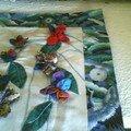détail fleurs tableau japonais