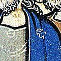 Cape noble début xiiième siècle... et aumônière