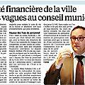 Finances communales : La Gauche mise à mal !!!