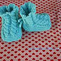 Une paire de chaussons bleus