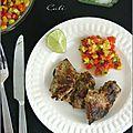 Poulet cajun & salsa a l'ananas - pollo cajun & salsa a la piña