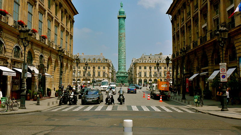 La place Vendôme depuis la rue Castiglione.