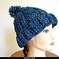 Crochet: bonnet au crochet point relief et pompon