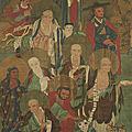 Arhats, Chine, Dynastie Qing, ca 17°-<b>18</b>° <b>siècle</b>