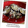 Salade aux aubergines et à la feta