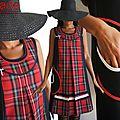 La Robe trapèze chasuble Tartan écossais rouge/ noire pour une rentrée Mode Automne Hiver 2014.2015 !