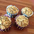 Muffins au citron - amandes - graines de pavot