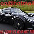 <b>Lotus</b> Exige, <b>Lotus</b> Exige, covering <b>Lotus</b> Exige, <b>Lotus</b> Exige noir mat