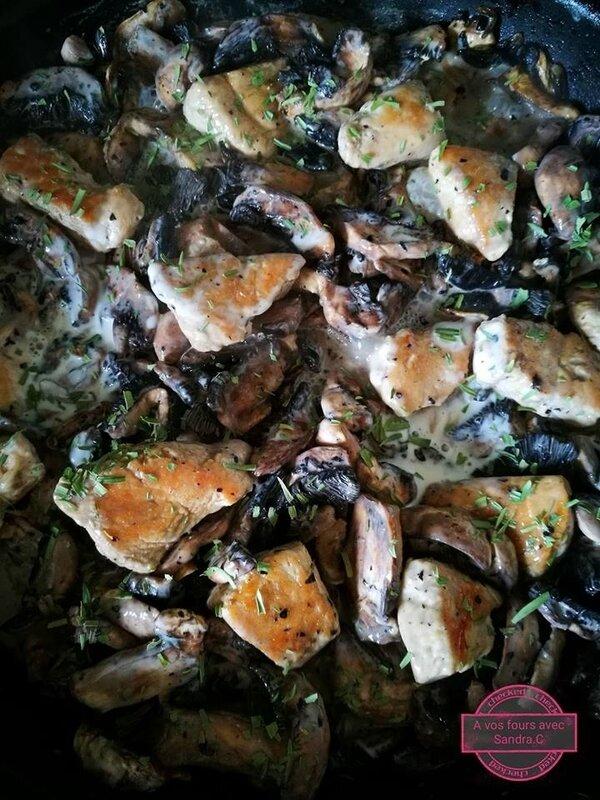 Escalope de dinde au champignon 1