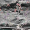 tissus japonais fond noir