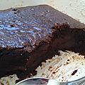 Fondant (coulant) au chocolat et caramel, sans farine sans gluten