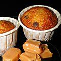 Muffins au caramel beurre sale et pepites de chocolat