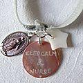Bracelet d'allaitement Marie (rose clair - détails)