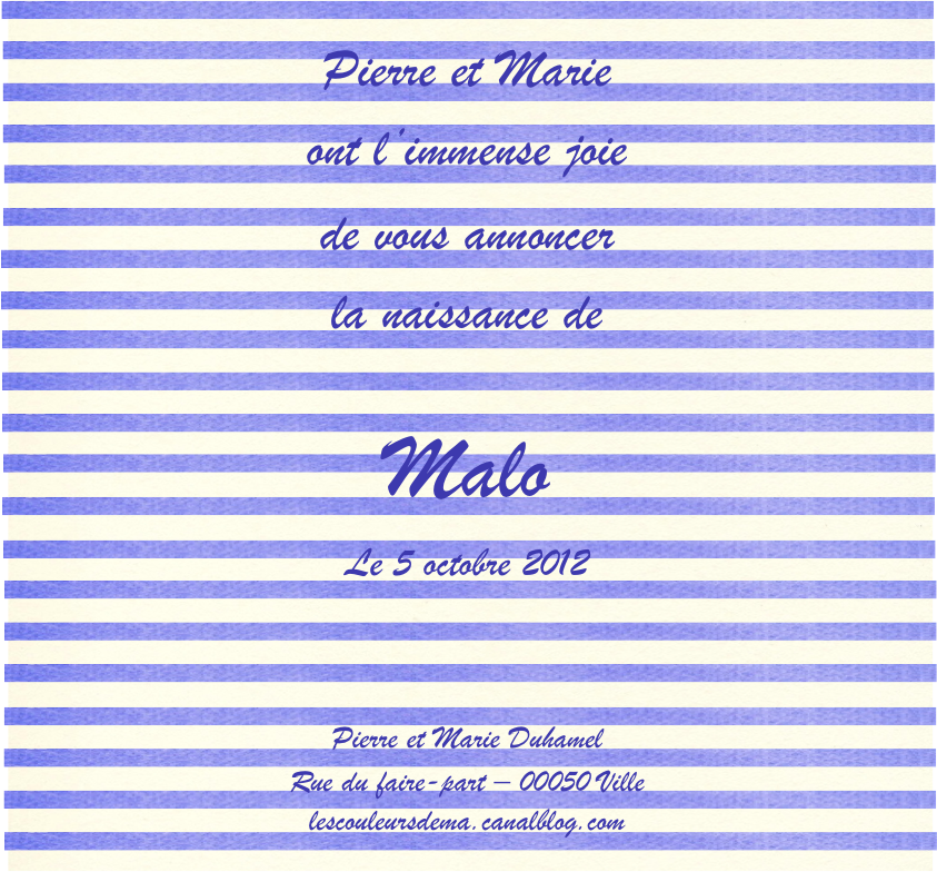 FP rayures horizontales bleu blanc modèle Malo