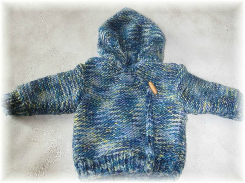 veste à capuche bébé modèle FABRICE taille 3 mois PRIX 25€