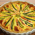 Tarte saumon-courgettes, saveur curry