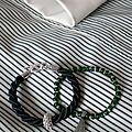 Duo de bracelets verts