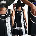 La robe graphique en noir & blanc est de retour pour le printemps mode 2018 chez isamade.