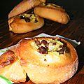 Brioches roulées à la crème pâtissière et aux pépites de chocolat