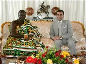 Rabat, July 27, 2006 – His Royal Highness Prince Moulay Rachid, the heir second in line to the throne, received King Otumfuo Osei Tutu II of Kingdom of Asante