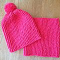 <b>Tricot</b> facile enfant: Tuto Snood et Bonnet à pompon assorti...