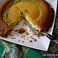 <b>Knafeh</b> (knefeh) ou le cheesecake libanais