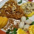 Rôti de porc au miel et à la noix de coco